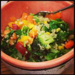 Quinoa, Kale, Veggie Lunch