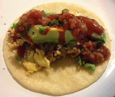 Chorizo and Egg Tacos