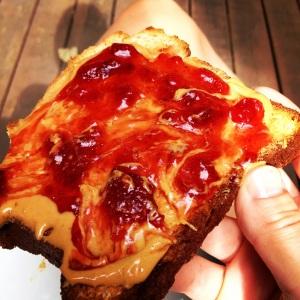 GF PB and J Toast